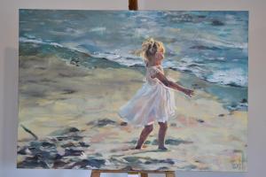 [sold]Meisje op het strandAcrylic, 2020 100 x 70 cm